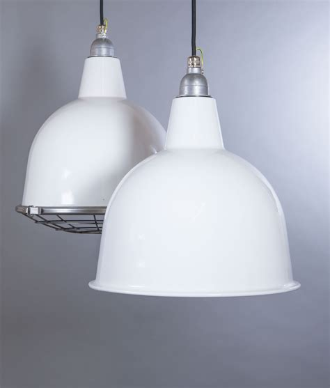 White Enamel Pendant Light Stourton Industrial Style Enamel Pendant Lights