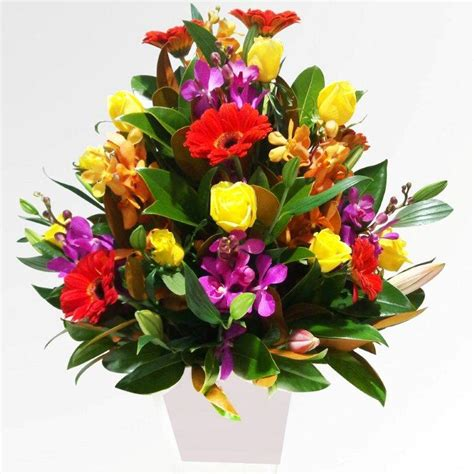 Fresh Flower Arrangement | fountain of flowers elf s garden center