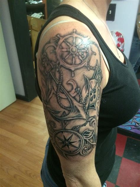 navigation tattoo nautical half sleeve tattoos designs ideas and meaning