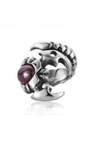 Cincin Premium Fashion men s jewelry scorpion ring titanium steel cincin