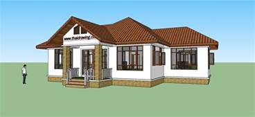 Free Home Design Thai Drawing House Plans Free House Plans
