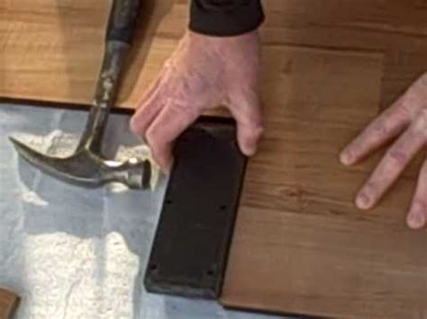 how to install laminate flooring part 1 tapping block