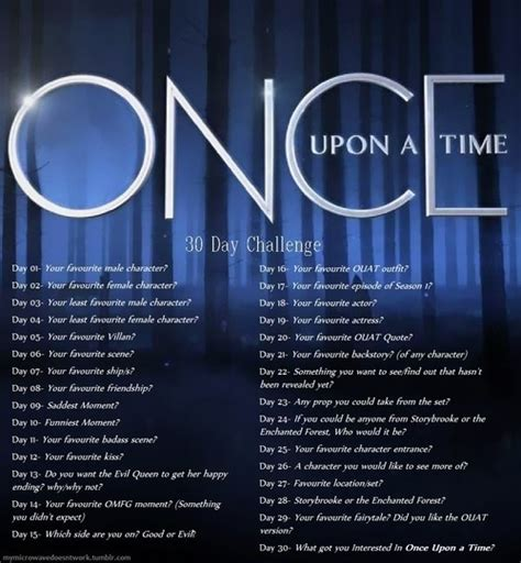 challenge ideaschallenge gonna do the ouat 30 day challenge on ouat 30