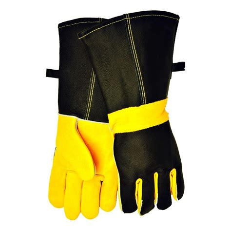 Fireplace Gloves Home Depot by G F Cowhide Grain Leather Bbq And Fireplace Gloves With