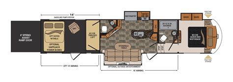 voltage floor plans 2016 dutchmen voltage v series 3805 cing world of