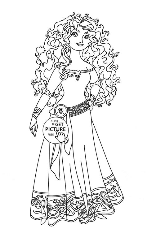 princess merida coloring page disney princess merida coloring pages printable
