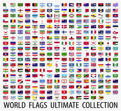 flags of the world design vector world flags design elements set 02 welovesolo