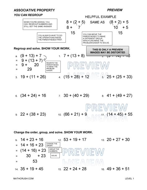 Multiplication Properties Worksheet by Commutative Property Multiplication Worksheets Kelpies