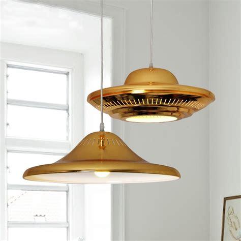 saucer pendant l knock modern luxury golden led pendant light flying saucer ufo