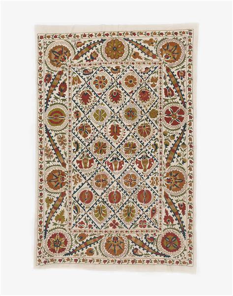 uzbek textile storesebaycom uzbek suzani embroidered bed cover kichy