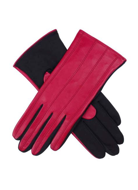 ladies hot pink leather gloves dents ladies leather gloves in pink lyst
