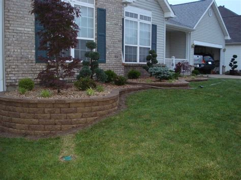 Retaining Wall Front Yard Landscaping O Fallon Front Garden Retaining Walls
