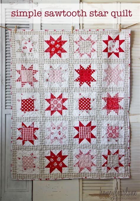 Sawtooth Quilt Pattern simple sawtooth quilt pattern honeybear