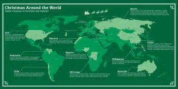 Christmas World Map by Mapped Christmas Around The World Spatial Ly