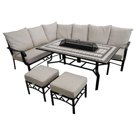 modular dining table and chairs lg outdoor casablanca 7 seater garden modular dining table