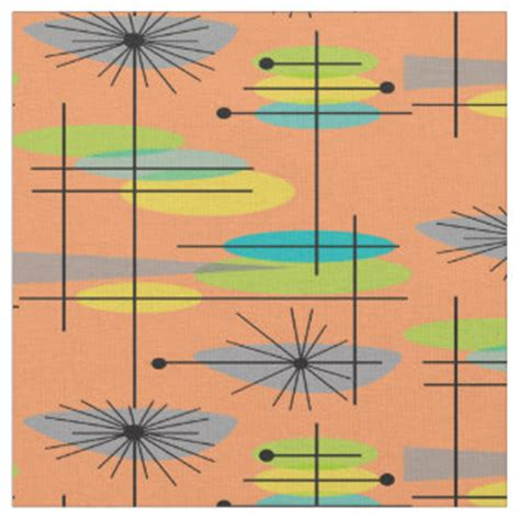 mid century upholstery whimsical mid century fabric zazzle