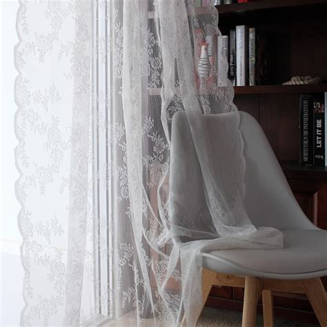 lace curtains kitchen window rustic home decor white sheer