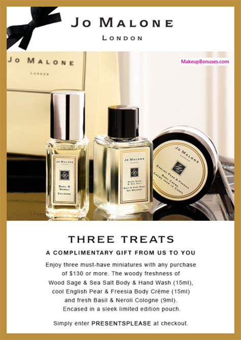 discount voucher jo malone makeup bonuses discounts and free gifts with purchase