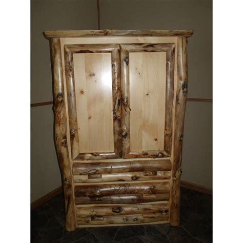 bedroom set with armoire rustic aspen log complete bedroom set