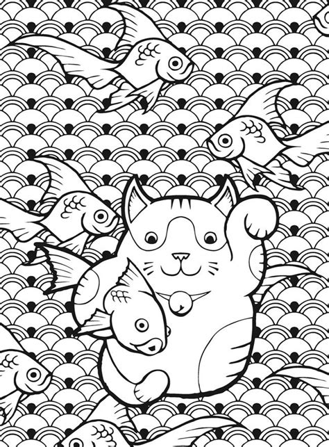 lucky cat coloring page 435 best images about cats to color on pinterest