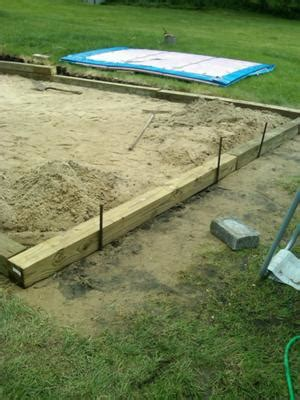 backyard leveling framing pool sand base i have a 12 x 24 intex pool and