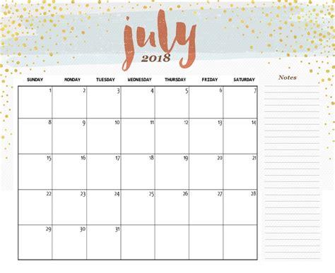 printable calendars july printable calendar july 2018 cute larissanaestrada com