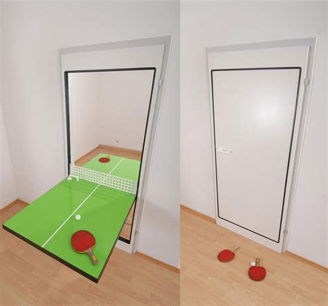 ping pong table door knock knock who s there ping pong door technabob