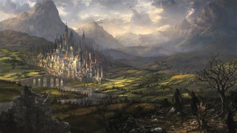 fantasy landscape castle city
