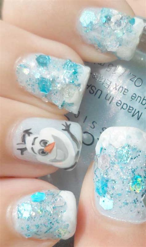 Nail Art Olaf Tutorial | nail tutorial for diy frozen olaf fingernails ahbsessed