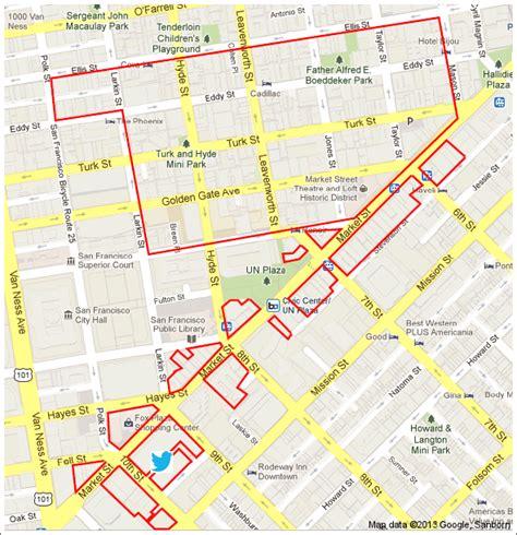 san francisco neighborhood map tenderloin san francisco tenderloin map michigan map