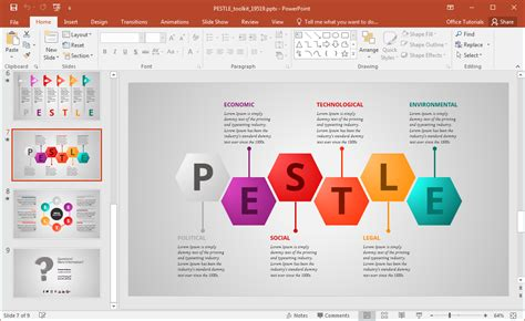 Animated Pestle Analysis Presentation Template For Powerpoint Creating A Template In Powerpoint
