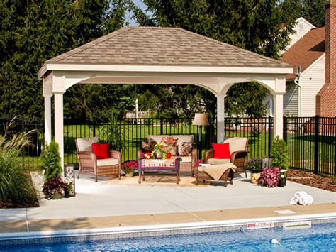 Backyard Pavillion vinyl traditional pavilion pa area backyard beyond