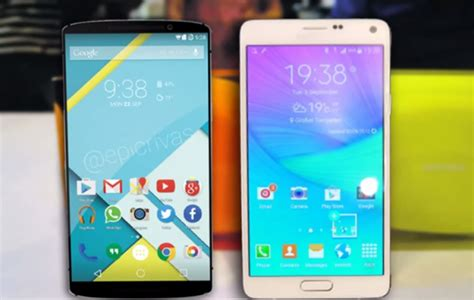 Nexus 6 Vs Samsung Galaxy Note 4 Galaxy Note 4 Vs Nexus 6 Does Even Scratch The Samsung Flagship S Surface Trending