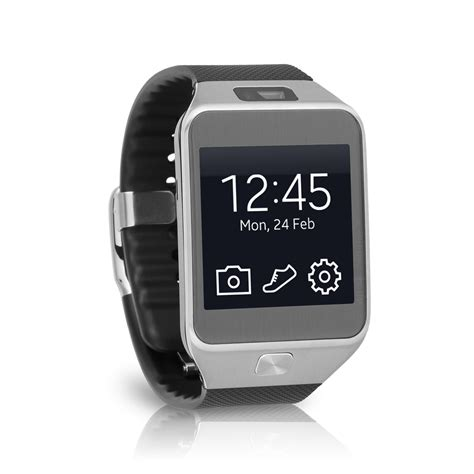 samsung galaxy gear 2 android fitness smartwatch sm r380 silver black ebay