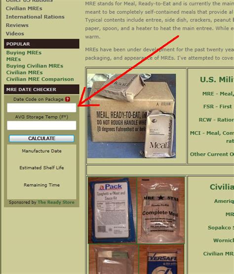 Shelf Of Mres by Does Mre Filed Stripping Decrease Its Shelf Mreinfo