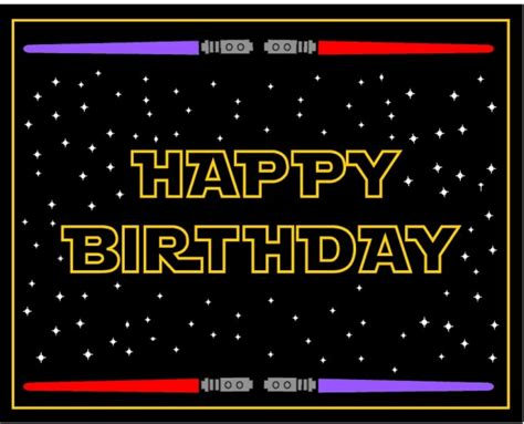 wars birthday card template wars free printables catch my