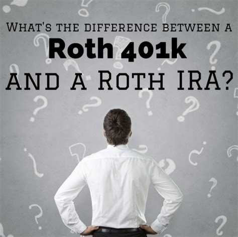 Mba Roth Ira by What S The Difference Between A Roth 401k And A Roth Ira