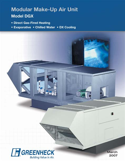 make up air fan greenheck fan modular make up air unit dgx user manual 8