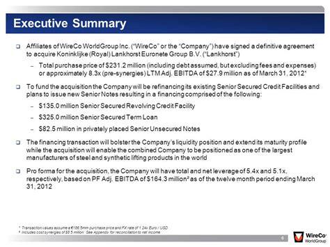 Best Photos Of Short Executive Summary Exle Sle Executive Summary Slide Template