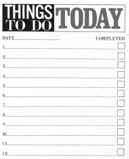 10 Printable To Do List Templates Excel Templates Things To Do List Template