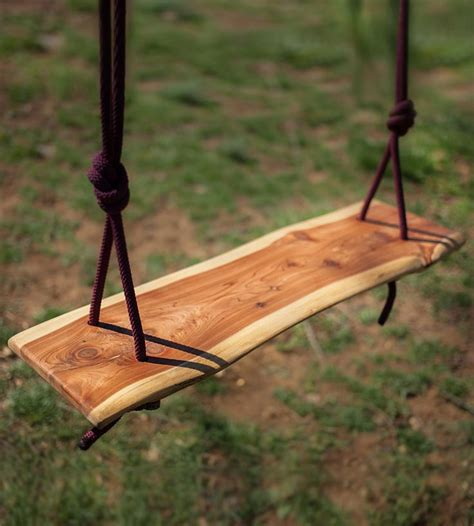 cedar tree swing cedar wood slab swing cedar wood design and tree swings