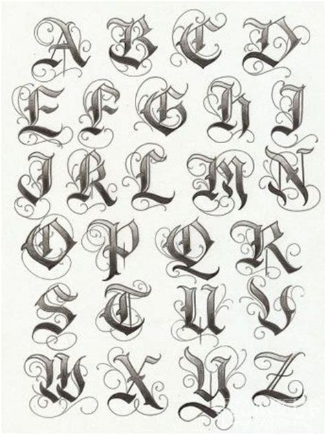 nice tattoo fonts gangsters alphabet and alphabet fonts on