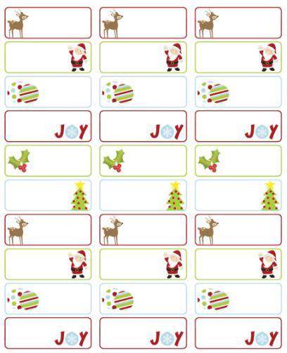 christmas address labels  template  design  erin rippy  inktreepress