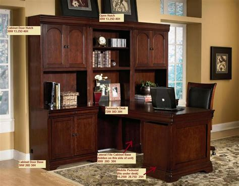 Home Office Furniture Wall Units I Like This Hutch Without Space Wasted For A Desktop Monitor Modular Wall Desk Unit Executive