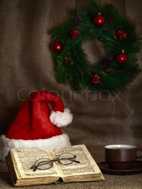 christmas themes bible christmas and new year theme with open bible cup of tea