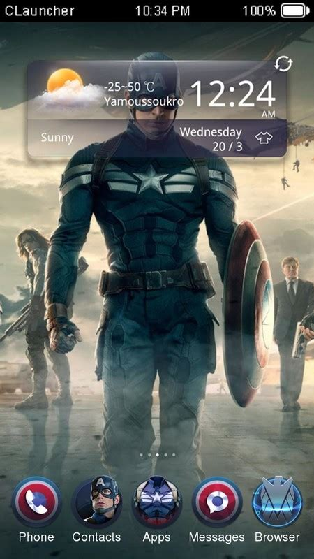 whatsapp themes captain america captain america 2 theme free android theme download