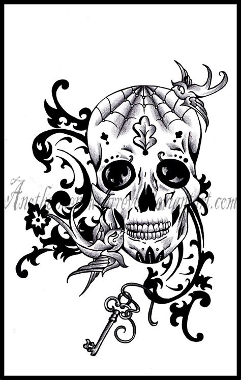 sugar skull tattoo designs tumblr school skull designs school skull 171 skull