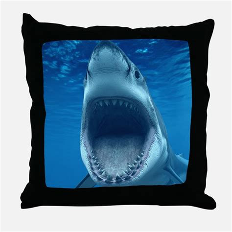 big shark pillow shark jaws pillows shark jaws throw pillows decorative