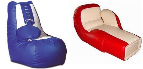 sillones con formas sill 243 n enorme en forma de guante de boxeo