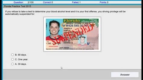 florida drivers permit test questions and answers permit test florida